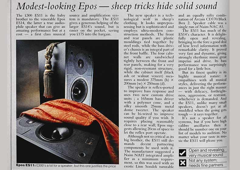 ES 11 от Epos Acoustics