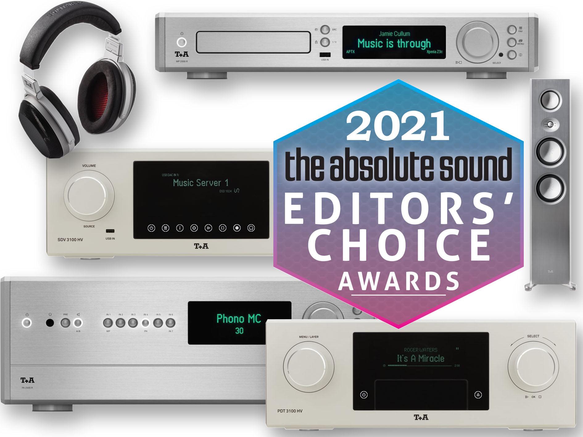коллекция трофеев немецкого производителя Т+А была пополнена шестью наградами «Выбор редакции» издания The Absolute Sound